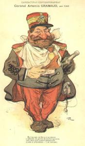 Coronel Gramajo- Ilustración de J. M. Cao /Los Foodistas