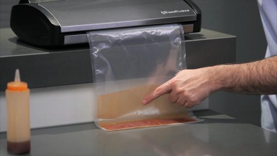 Envasando líquidos al vacío