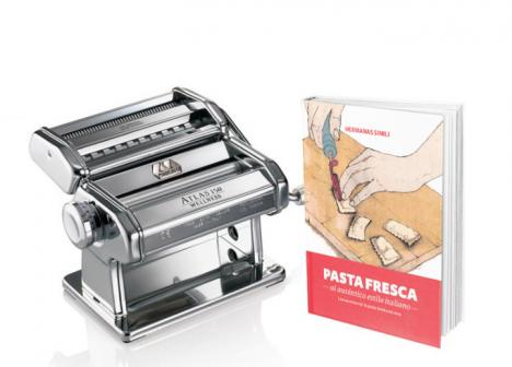Libro 'Pasta Fresca' y Máquina de hacer pasta