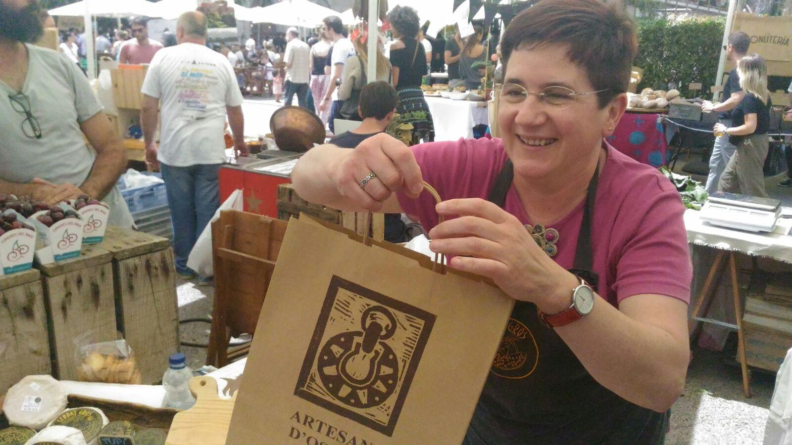 Mercè, orgullosa de sus quesos de leche cruda / Foto: Godo Chillida para Los Foodistas©