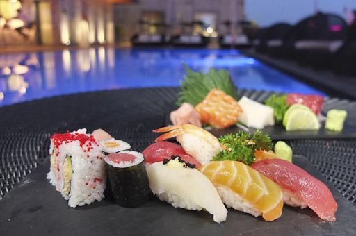 Sushi en la Terraza The Clock / Foto: Godo Chillida para Los Foodistas©